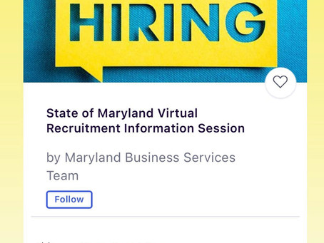 State of Maryland Virtual Recruitment Fair