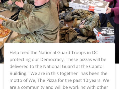 We, The Pizza: Pay a meal forward to a national guard member