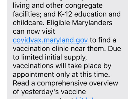 Link to sign up for covid vaccine for people included in phase 1B
