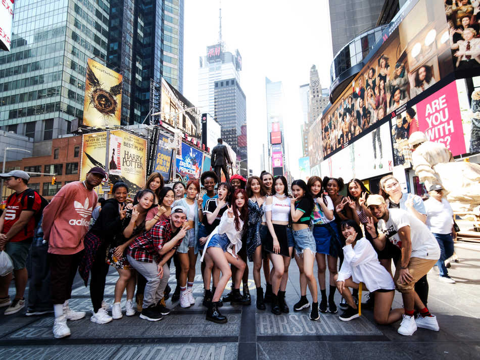 Flashmob In Times Square