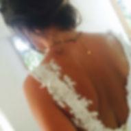 Robe de mariée dos nu Quiqui Lamothe en dentelle et tulle, grande robe romantique et sur mesures