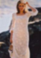 Robe de mariée dentelle Quiqui Lamothe, dentelle de calais coton, robe longiligne boutonnée dos