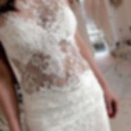 Robe de mariée dentelle Quiqui Lamothe transparences et dos nu, chic et sexy