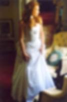 Robe de mariée Quiqui Lamothe en soie sauvage haute courture et sa marguerite
