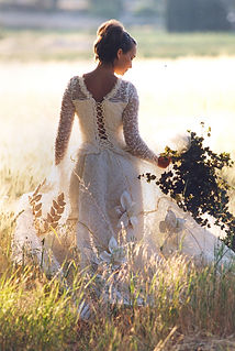 Robe de mariée Quiqui Lamothe bohème champêtre bucolique