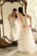 Robe de mariée dentelle Quiqui Lamothe, bustier lacé dos, jupon nude