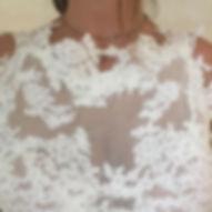 Robe de mariée bohème Quiqui Lamothe détail en tulle et soie