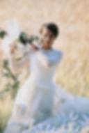Robe de mariée bohème Quiqui Lamothe champêtre en tulle smoké