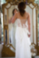 Robe de mariée Quiqui Lamothe bustier dentelle bohème Robe de mariée bustier dentelle bohème dos nu lacé