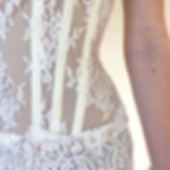 Bustier de mariée nude en dentelle