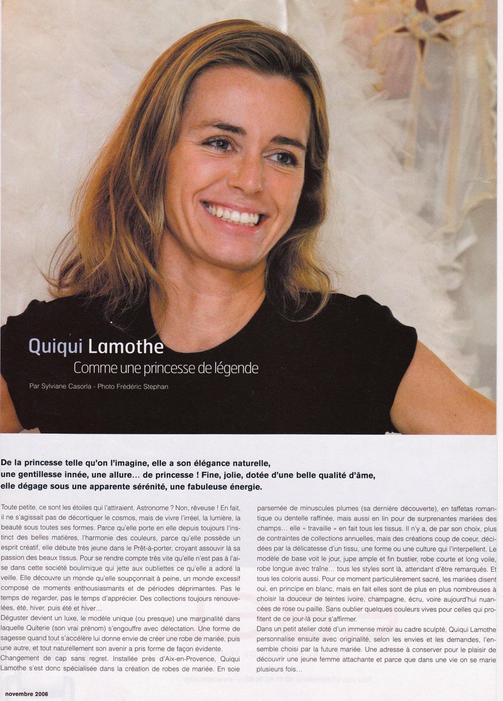 cote-magazine-quiqui-lamothe-creatrice-designer-de-robe-de-mariee-haute-couture-aix-en-provence-cote