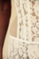 Bustier de mariée Quiqui Lamothe en dentelle de Calais