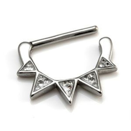 Pave Triangle Gems Nipple Clicker