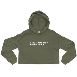 Seize the Day Crop Hoodie