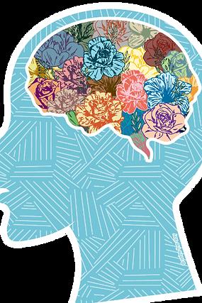 Flower Brain Sticker