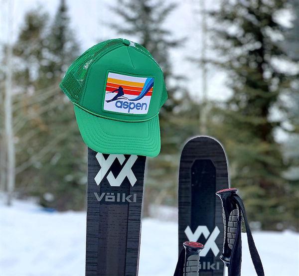 Ski Wear, Trucker Hat, Port Sandz, unique hats, Ski, Aspen, Mountain Wear,