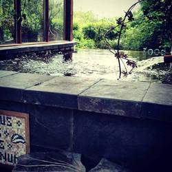 Indoor natural infinity pool