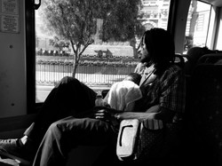 Father and Child on the bus