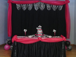 Royal Princess Headtable w..Backdrop..Front View