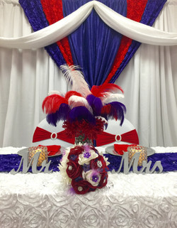 Sweet Heart Table for Mr.&Mrs.Oldham
