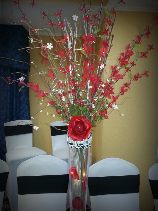 Birthday Party Floral Centerpiece