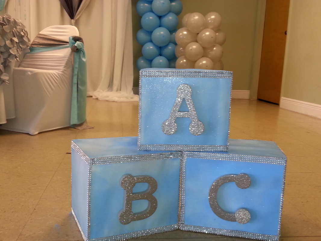 Elegant Baby Shower Blocks
