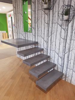 escalier beton cire 79 IDECO
