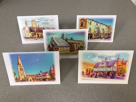 A6 Greeting Card Iconic Harborough