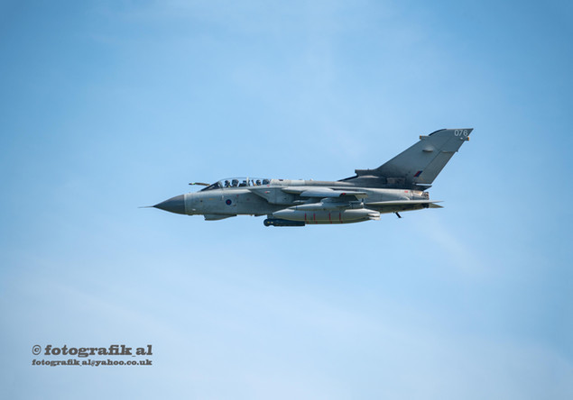 Tornado Pilot waving