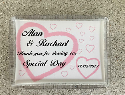 Personalised Wedding Fridge magnet