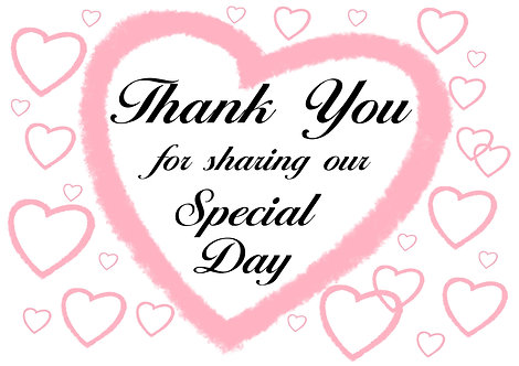 Thank You for sharing our Special Day
