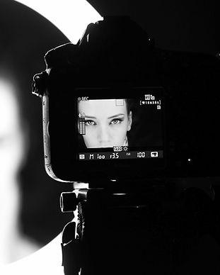 View of actress through viewfinder_edite