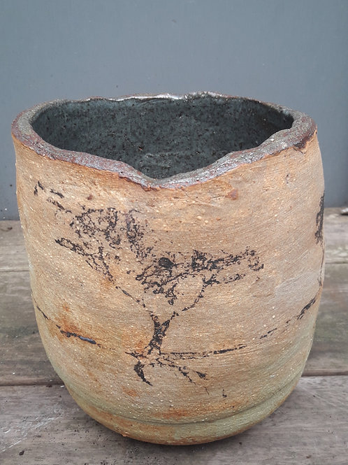 Pot met boomprint