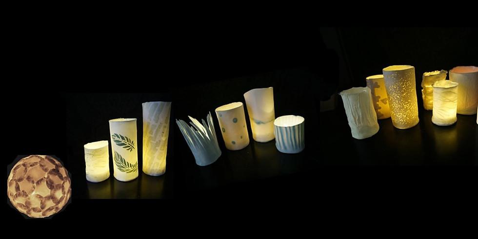 WORKSHOP Lichtobjecten in Porselein met Mie Ghesquiere