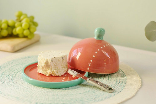 Coral Butter Dish