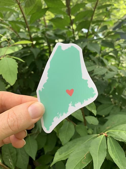w Maine Sticker
