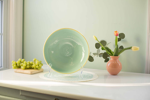 Light Seafoam Serving Bowl