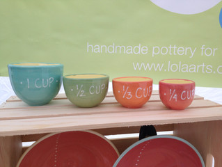 Handmade Pottery Measuring Cups
