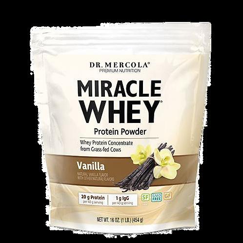 Miracle Whey Protein Powder | Vanilla | 454g | Dr Mercola