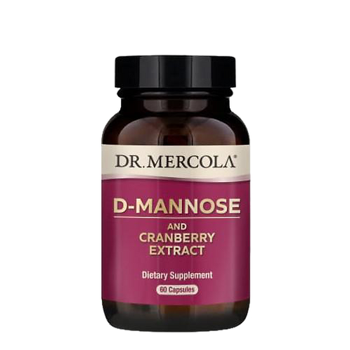 D-Mannose and Cranberry Extract | 60 Capsules| Dr Mercola