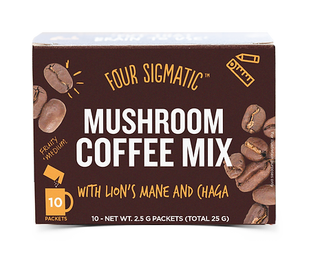 Mushroom Coffee with Lion's Mane | 10 Servings | Four Sigmatic