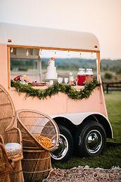 Couple elope wedding mobile bar Baltimore