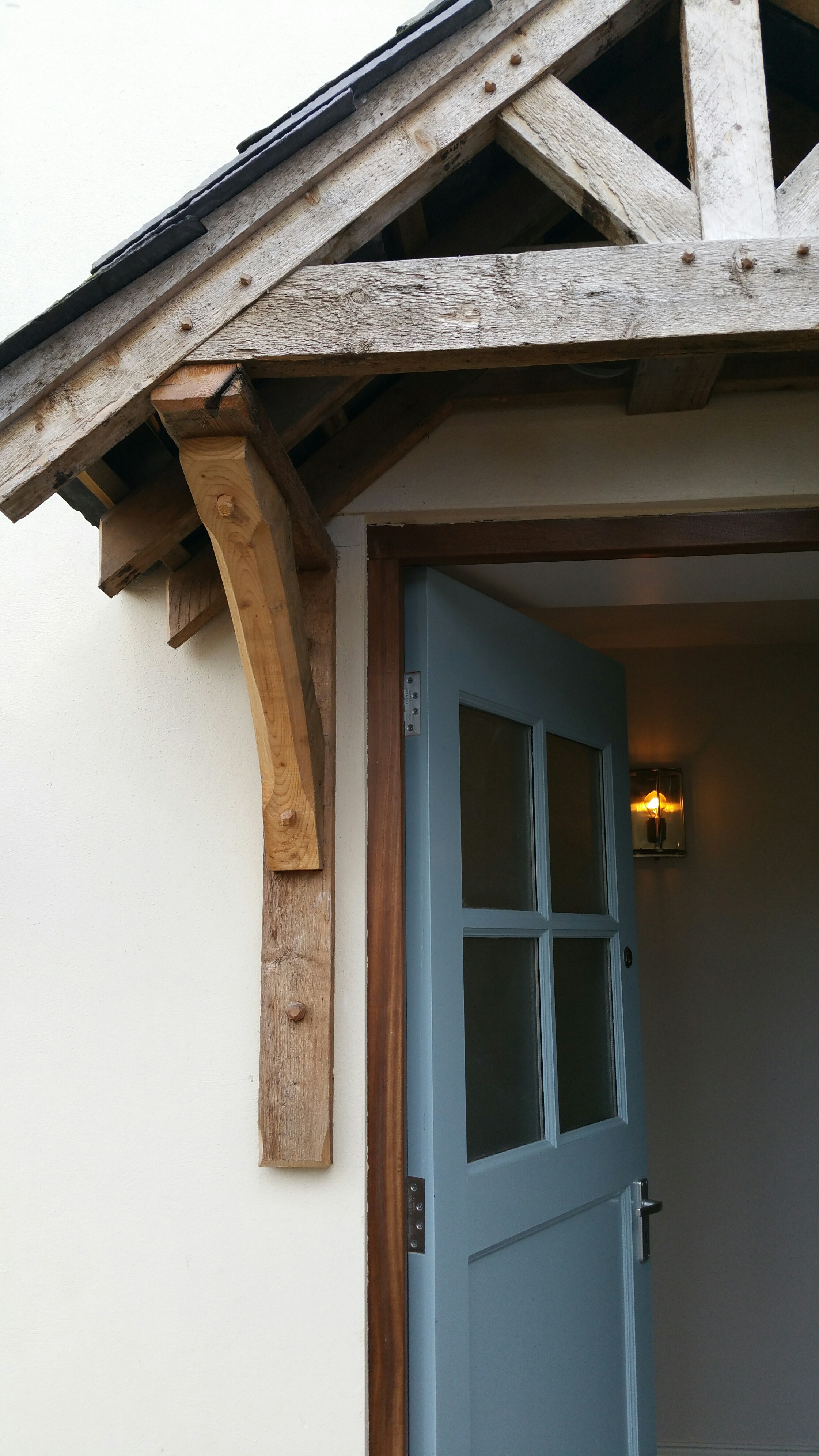 Bespoke handmade porch front