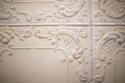 Metal distressed tile detail