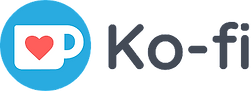 Ko-fi logo image, press to donate to buy me a coffee