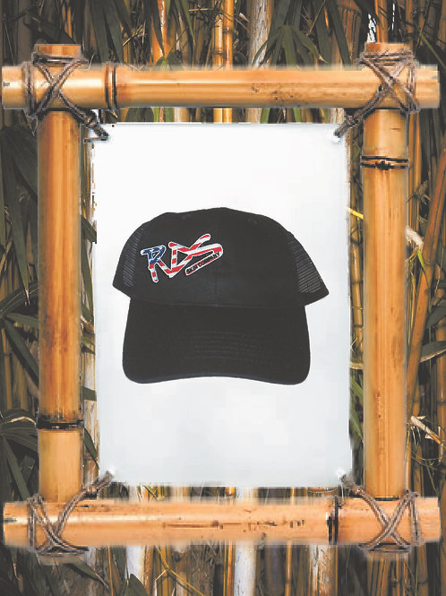 RDS USA Flag patch trucker hat