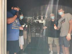 FP Joe and volunteers in cooler