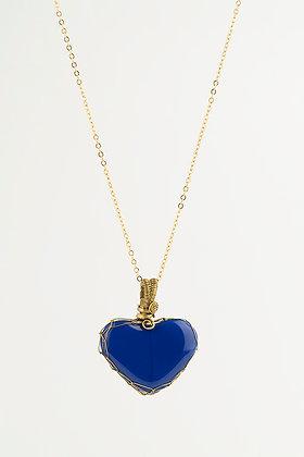 Dije corazón azul