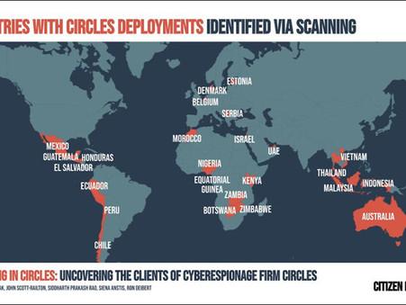 Descubriendo a los clientes de Circles, empresas victimas de ciber espionaje