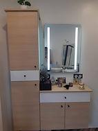 meuble salle de bain blanc et bois menuiserie guioullier